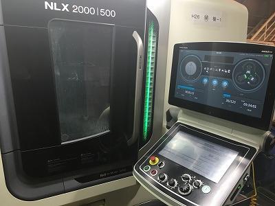 複合加工機(NLX2000)のオペレーションシステム